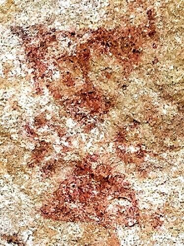Peinture préhistorique d'alien - grotte d'Ongna Chhattisgarh Inde