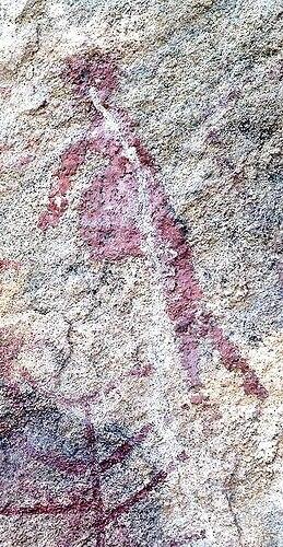 Peinture rupestre femme enceinte - grotte d'Ongna Chhattisgarh Inde