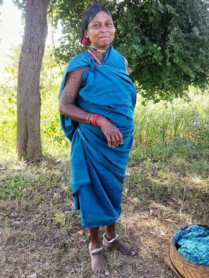 Femme d'une tribu du Bastar Chhattisgarh
