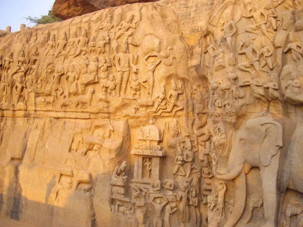 la descente du Gange Mamallapuram