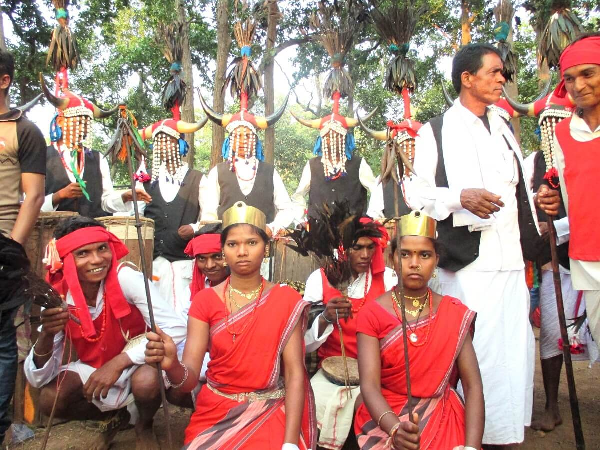 Tribe of Central India - Bison Horn Marias during Bastar Dussehra festival in Chhattisgarh