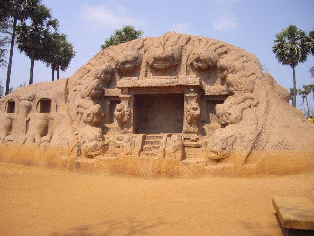 Monument aux environs de Mahabhalipuram Tamil Nadu Inde