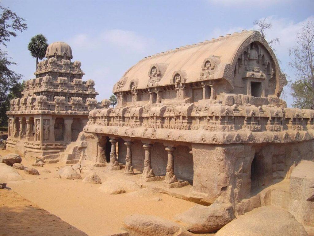 Les 5 Rathas de Mamallapuram Inde du sud