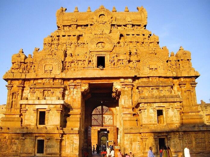 Temple de Brihadesvara à Thanjavur Tamil Nadu Inde
