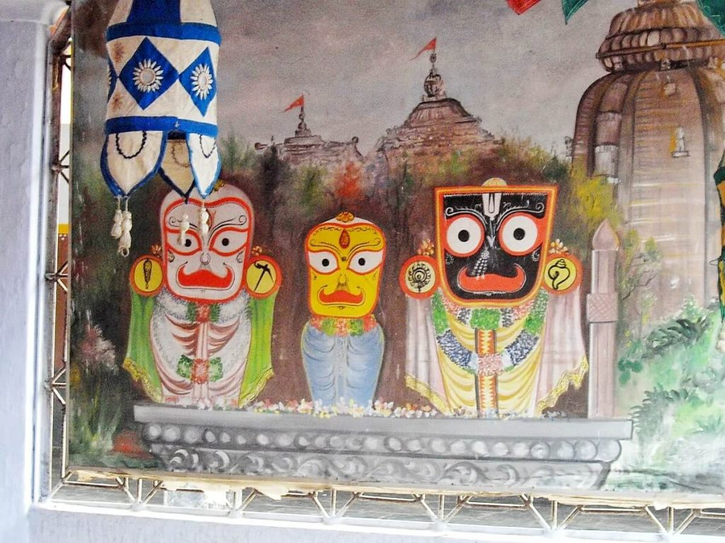 The Indian God Jagannath, reverred in Odisha