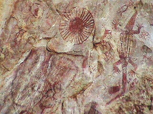 Kabra caves - lizard rock paintings