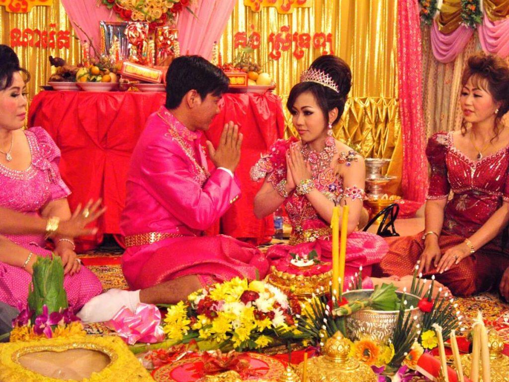 Cérémonie de mariage au Cambodge à Stung Treng - les mariés