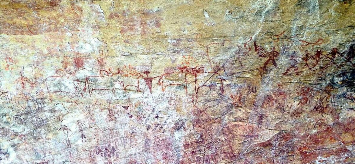 Alien drawings or prehistoric art of India? Ongna painted rocks Raigarh Chhattisgarh