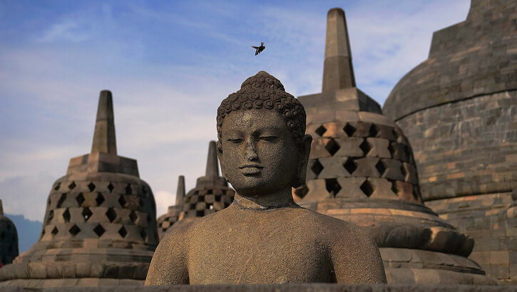 Candi Borobudur ile de Java Indonésie