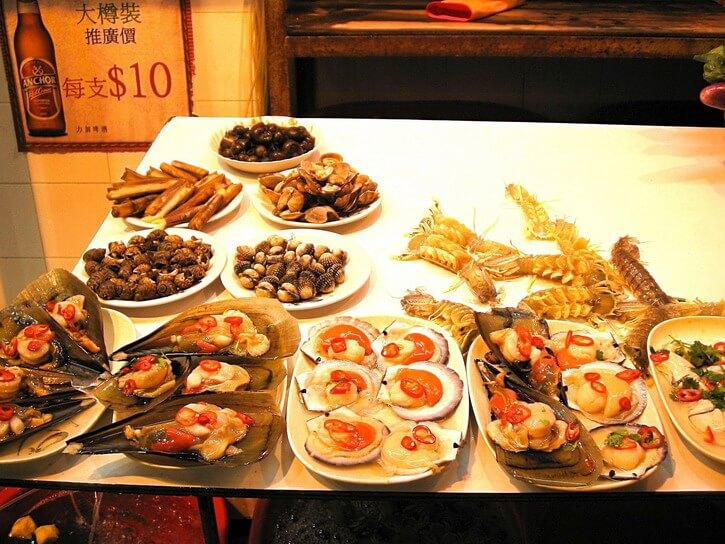 Où manger à Hong Kong : fruits de mer de Temple Street