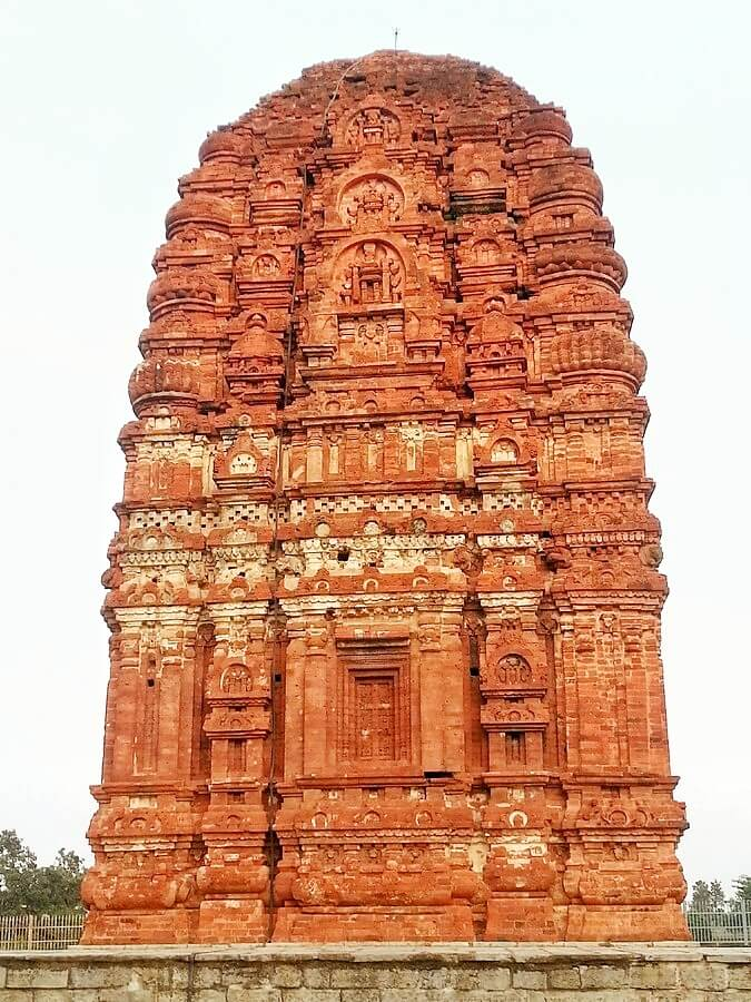 Laxman temple Sirpur, a red baked brick temple