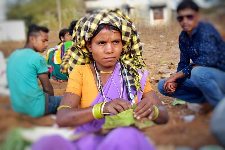A Dhurwa tribe woman in Nangur market