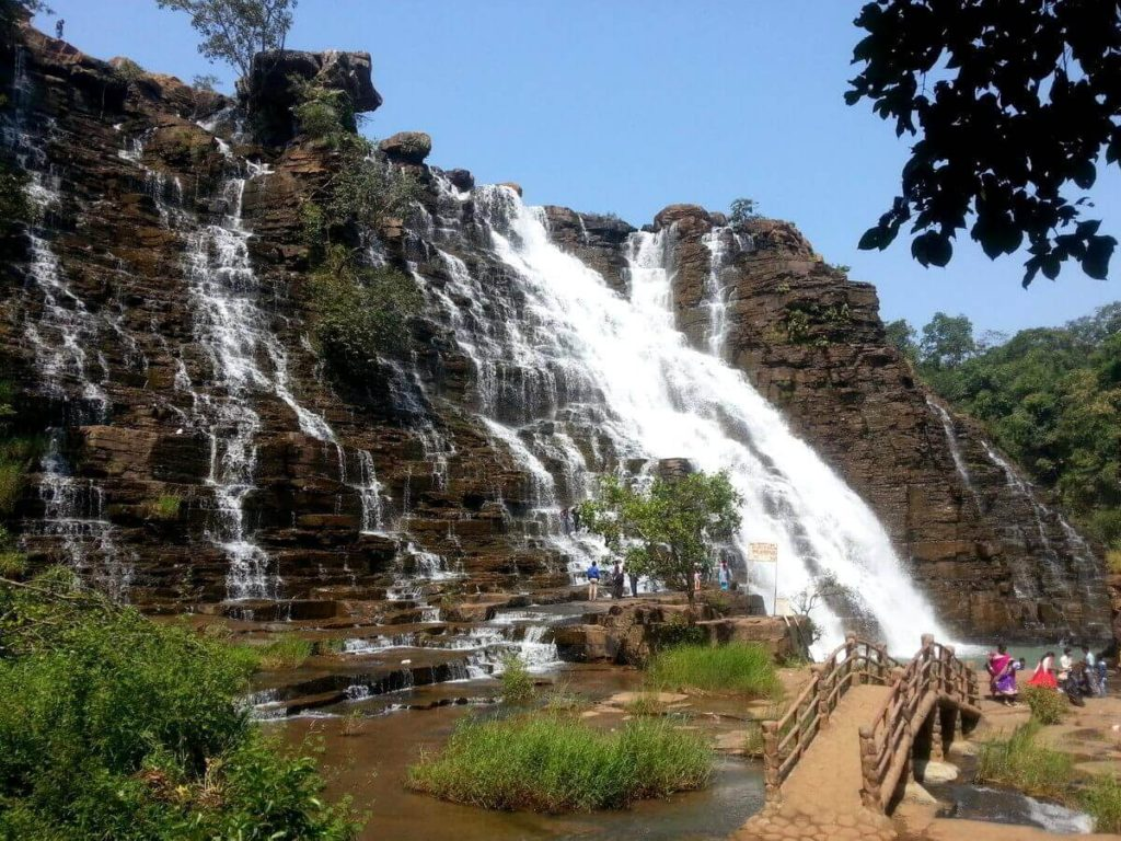 View of Tirathgarh waterfall cg Bastar