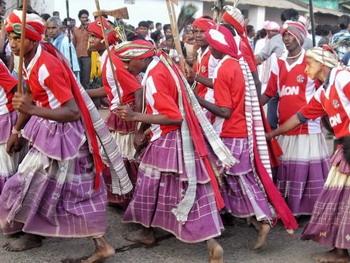 procession tribale de Bastar Dussehra - circuit Inde 2018
