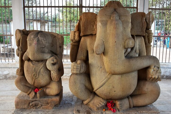 The twin elephant-head God statue