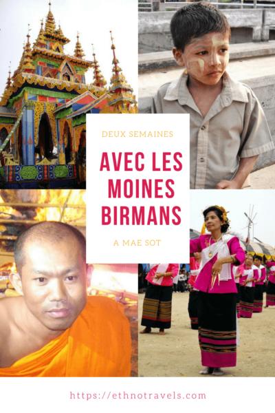 Deux semaines avec les moines birmans de Mae Sot en Thaïlande pendant une cérémonie funéraire majeure