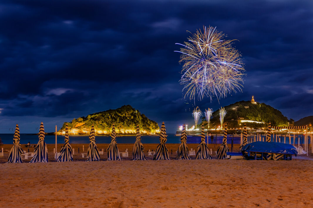 Fireworks from the Concha Beach