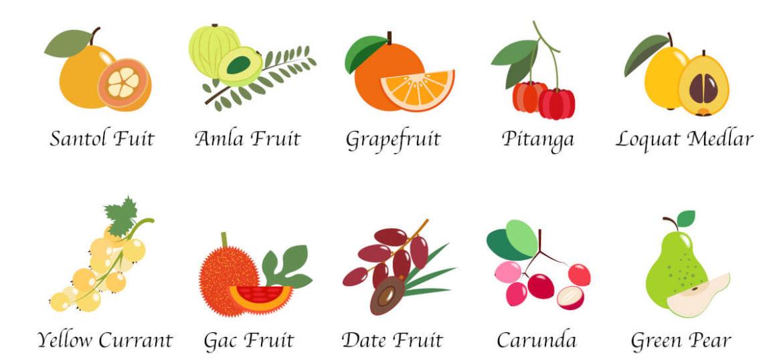 Amla et autres fruits antioxydants