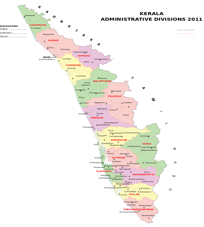 Kerala map India