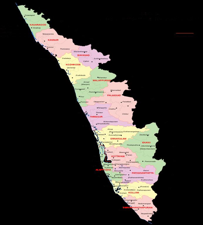 Kerala map India