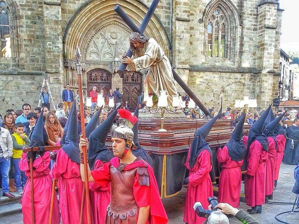 Pasos of Via Crucis Viviente of Balmaseda