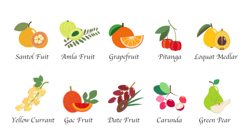 Fruits for health table