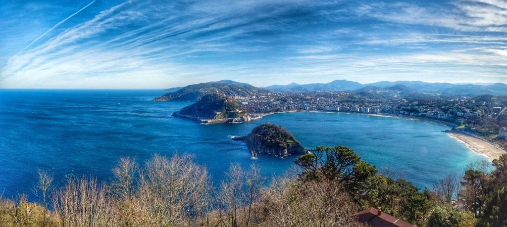 The Concha bay of San Sebastian in the Basque Country