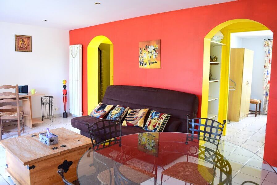 the colored sitting room