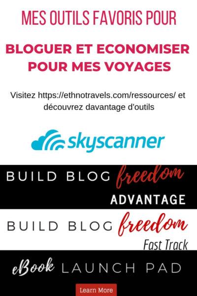 Outils pour gagner de l'argent avec son blog et économiser sur ses voyages