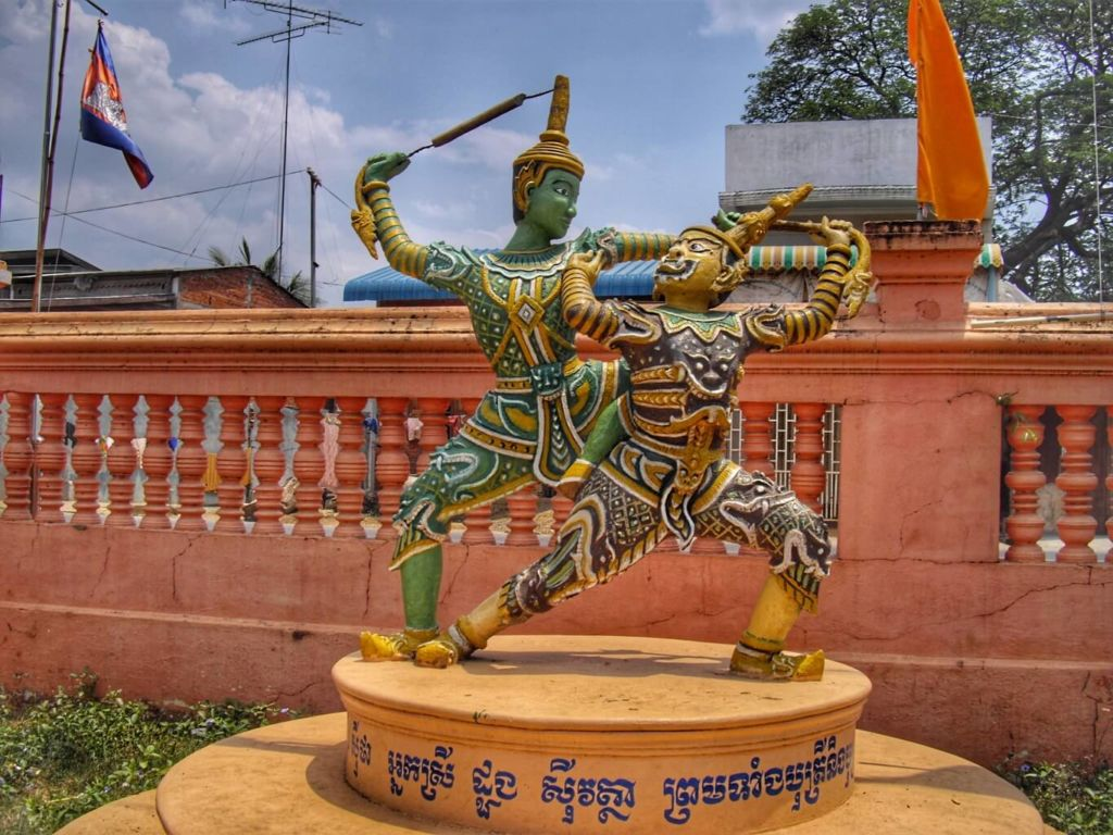 Combat de Rama avec un démon Ramayana