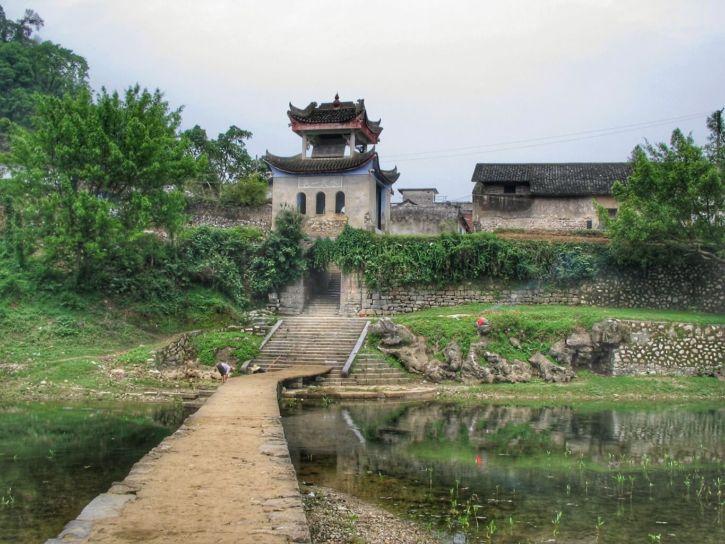 Le pont de départ de la randonnée de Fuli à Yangshuo