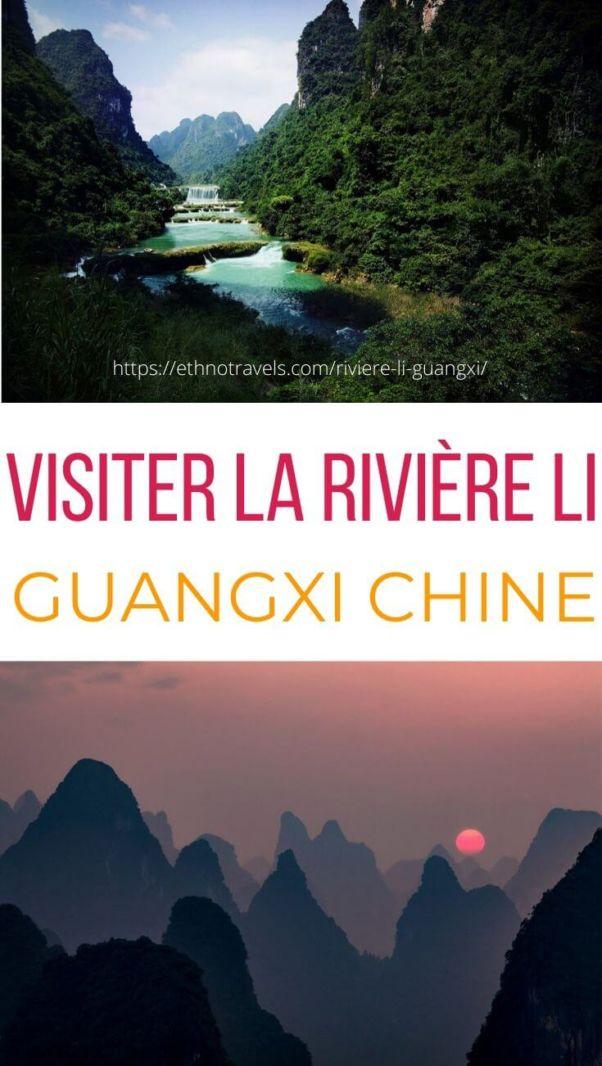 Croisière sur la riviere Li en Chine