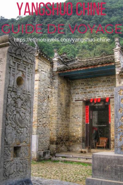 Yangshuo en Chine du Sud - quoi visiter
