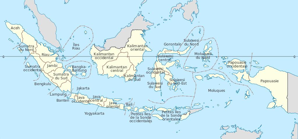 carte des iles indonésiennes