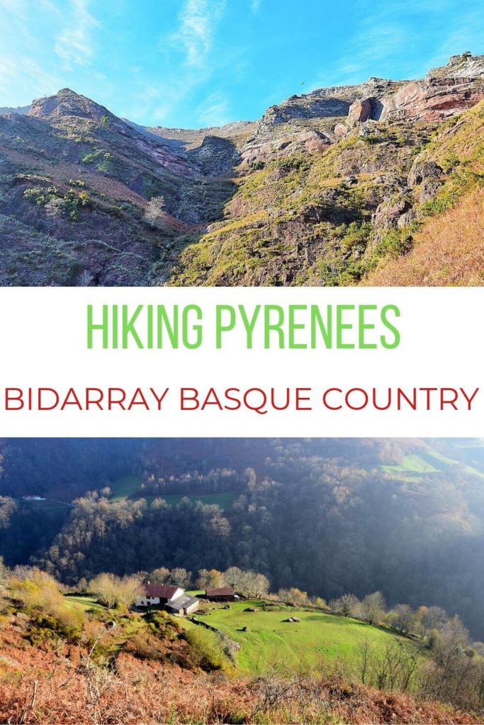 Hiking the Basque Country Pyrenees in Bidarray