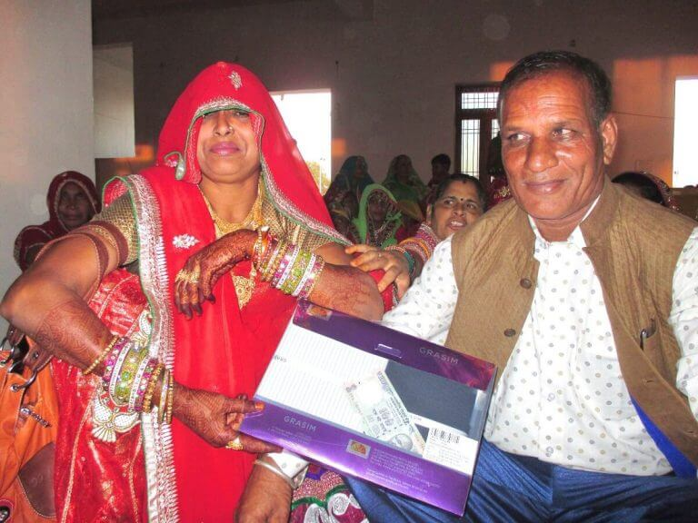 Parents of the groom with dowry