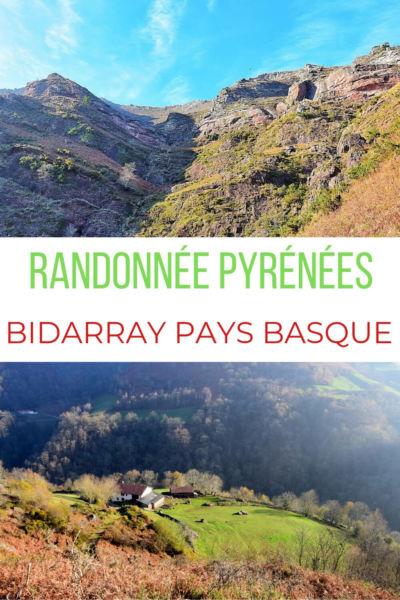 Randonnée Bidarray Penas d'Itsusi Pays Basque