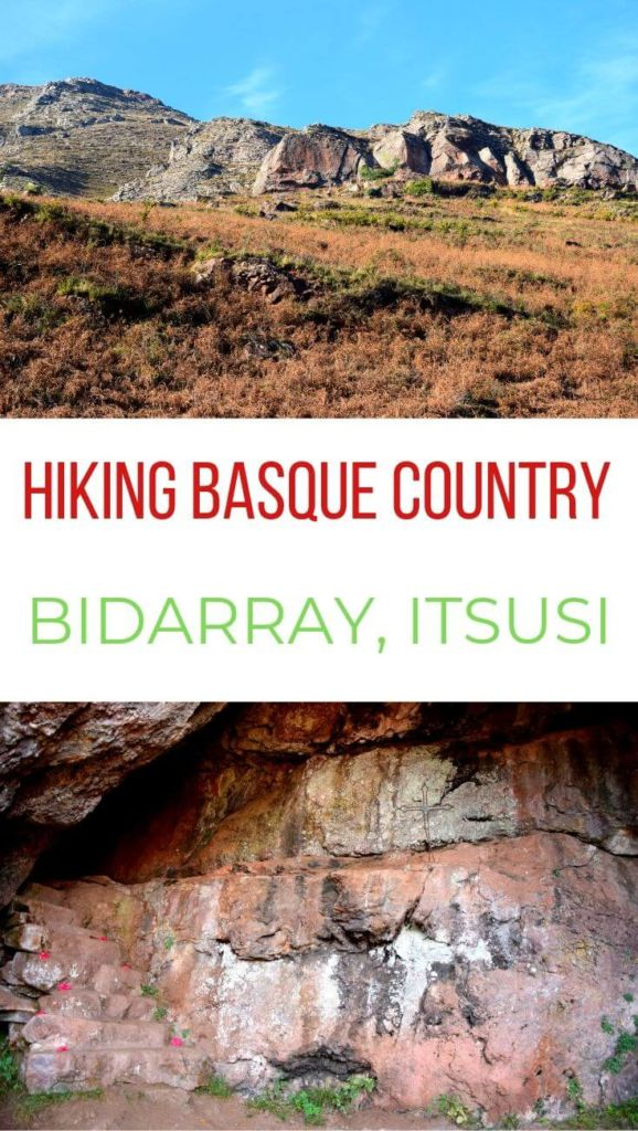 Hiking Pyrenees mountains in Basque Country