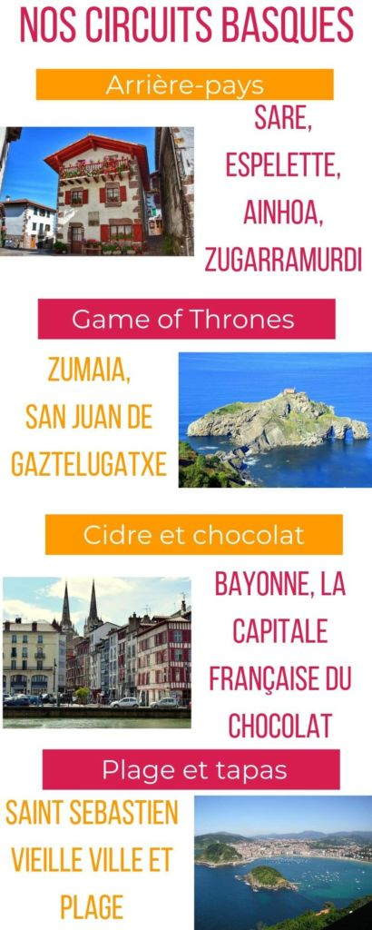 Idées d'excursions pour vos circuits Pays Basque