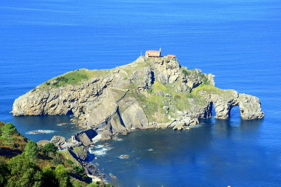 San Juan de Gaztelugatxe Game of Thrones dragon castle