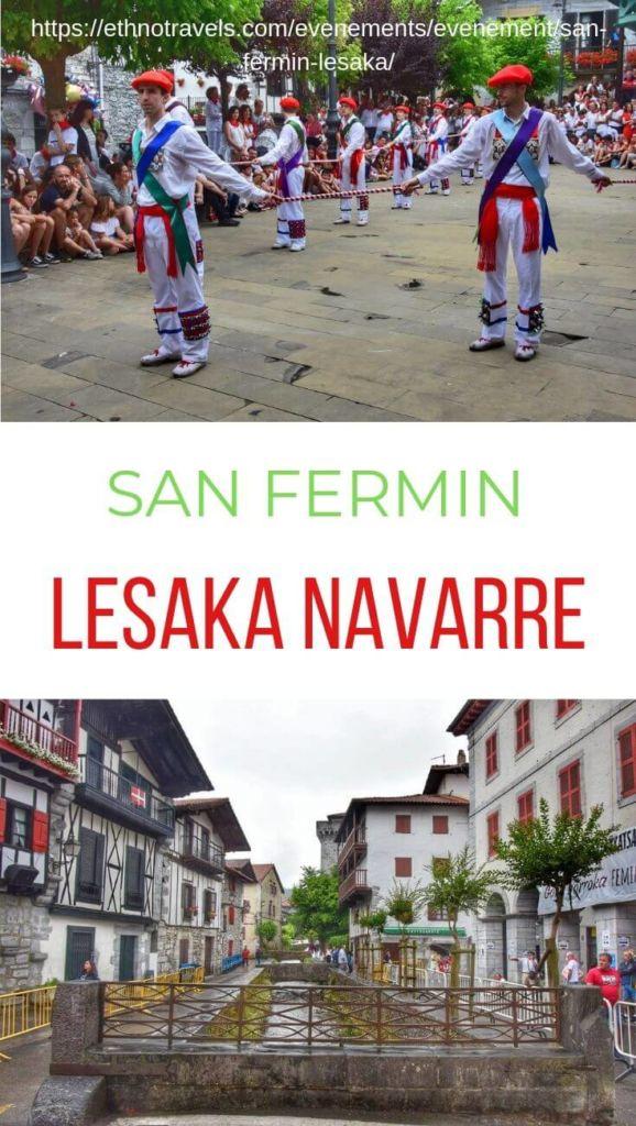 Danseurs à l'épée et pont de Lesaka