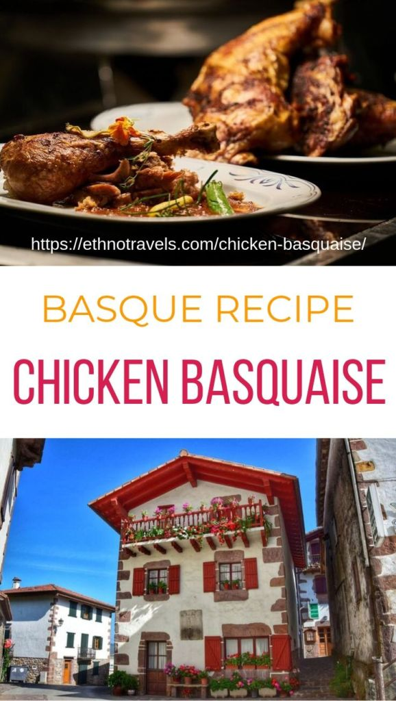 Chicken Basque traditional recipe