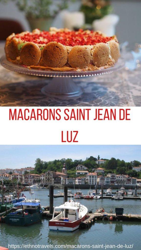 Macarons et port de Saint Jean de Luz