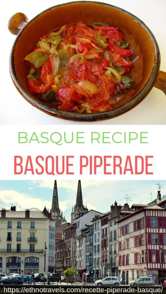 Piperade plate and Bayonne quays