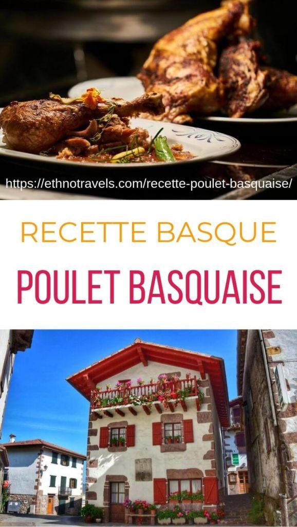 poulet basquaise et maison du village basque de Zugarramurdi