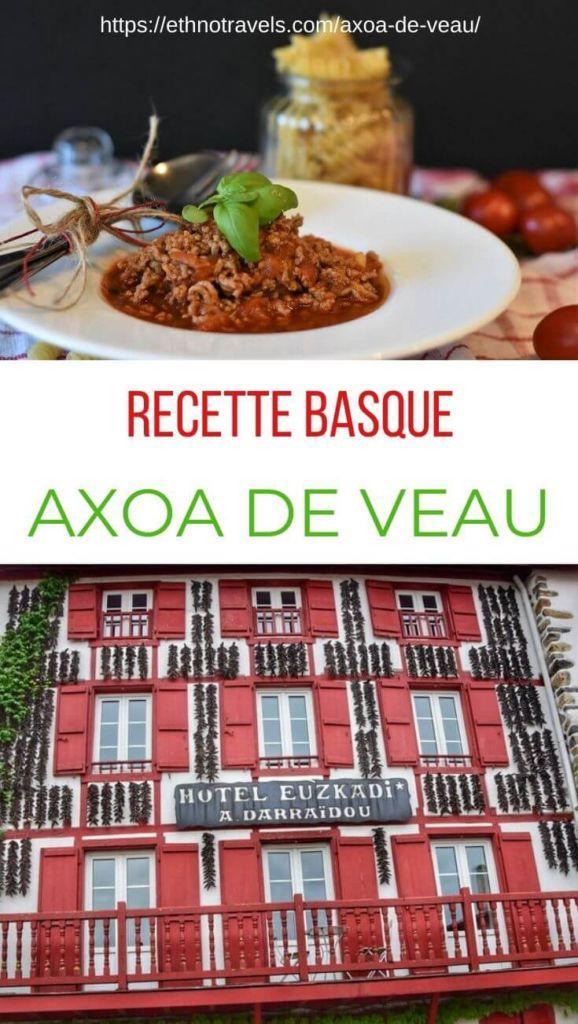 Axoa de veau Pays Basque