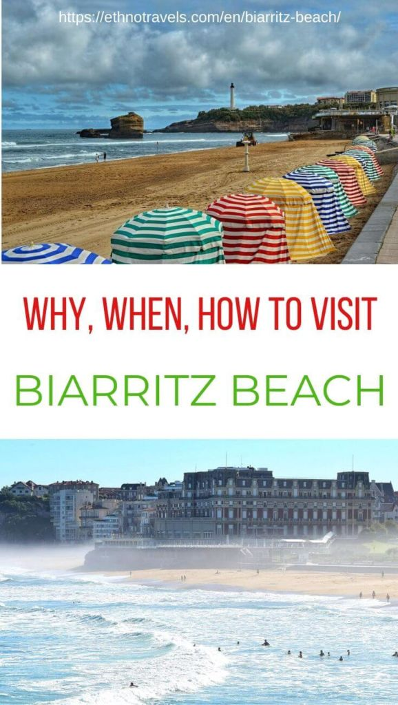 Pin Biarritz beach