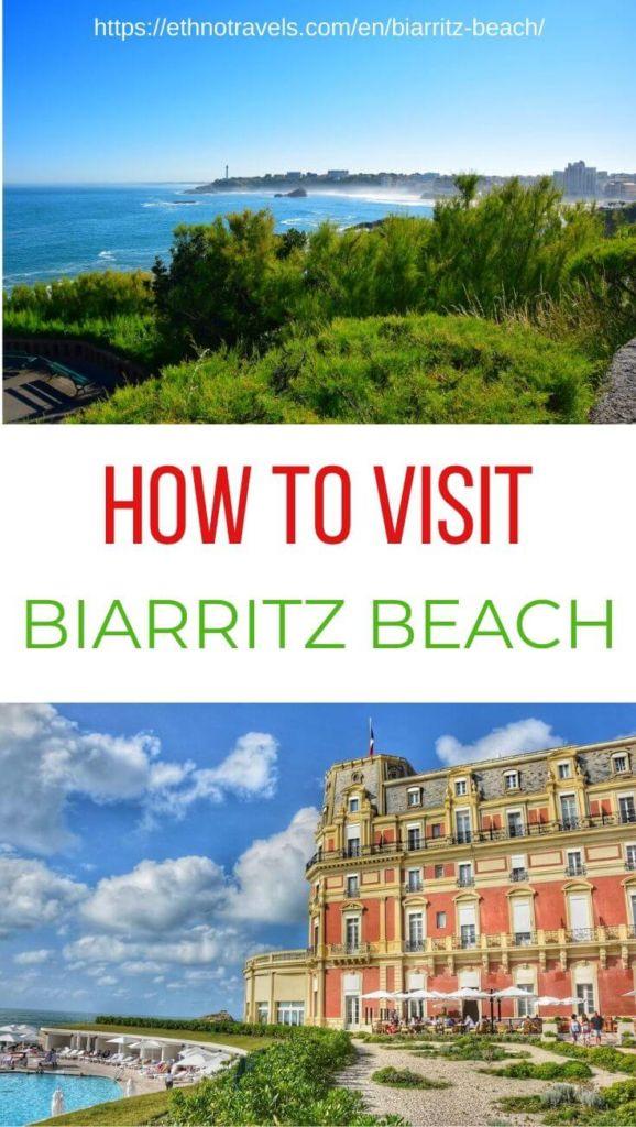 Pin Biarritz beach Grande Plage