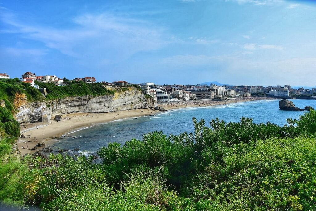 View of Biarritz from the lighthouse