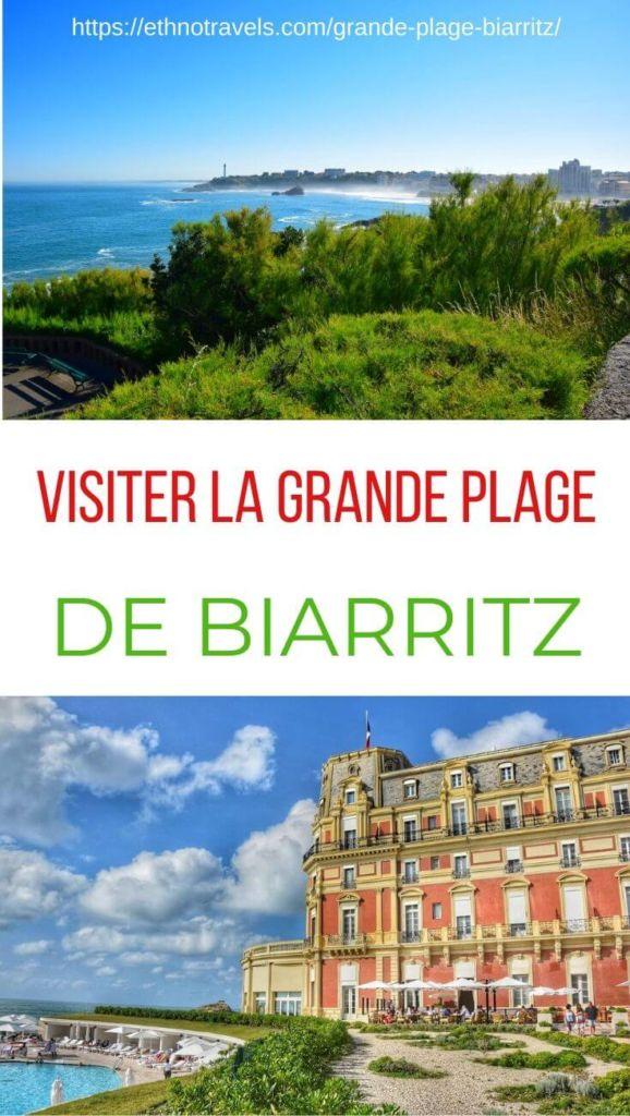 Epingle grande plage Biarritz